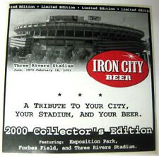 IRON CITY BEER Three Rivers Stadium Beer STICKER Label 2000 Collectors's Edition