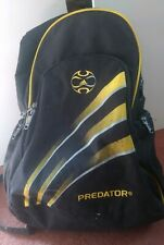 Adidas Predator Backpack Rucksack Sports Football Boots Bag- Black / Yellow