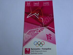 London 2012 Olympic Games GENUINE ORIGINAL GYMNASTICS TRAMPOLINE ticket 3rd Aug!