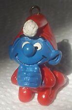 Smurfs 1982 Praying Smurf Christmas Ornament Figure Vintage PVC Toy Figurine