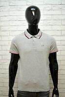 Polo Grigia Maglia Uomo LOTTO Taglia M Maglietta Manica Corta Shirt Man Regular