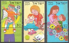 Israel Year 2007 Stamps MNH With Tab Gestures Of Family Love