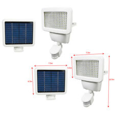 2 PACK 150 SMD LEDs Solar Powered White Motion Sensor Security Light Flood 100