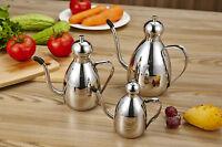 Kitchen Stainless Steel olive oil vinegar dispenser tin water jar oil container