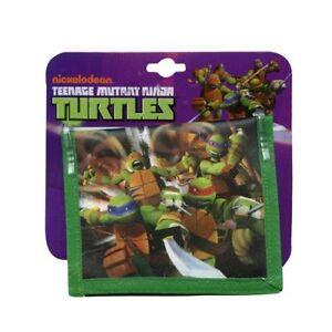 Wallet Bifold Non-Woven Nickelodeon TMNT Ninja Turtles Kid Party Favor New