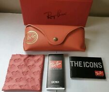 Ray Ban Red Sunglasses Case New