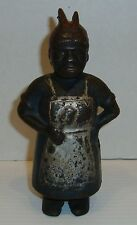 Antique Cast Iron Aunt Jemima Mammy with Spoon Bank WOW