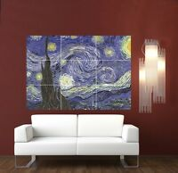 Van Gogh Starry Night Giant XL Section Wall Art Poster Art106