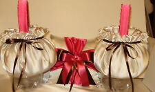 Sale Price 2 Flower Girl Baskets, One Ring Pillow Your Custom Colors