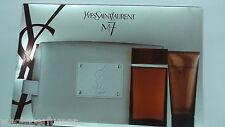 YVES SAINT LAURENT M7 MEN SET 3.4 EDT SPRAY + 3.4 ALL OVER SHOWER GEL + BAG NIB
