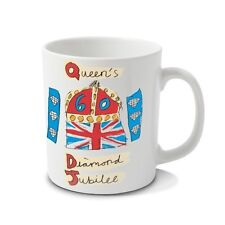 Diamond Jubilee Queen Elizabeth 2nd 2012 Set of 2 Mugs and Tin Box Official Item