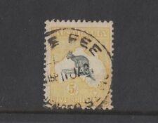 1918 Australia Roo 5/- yellow third wmk SG 42a fine used