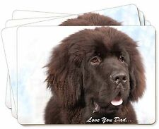 Newfoundland Dog 'Love You Dad' Picture Placemats in Gift Box, DAD-79P