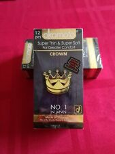 Okamoto Crown condoms Super thin & Soft Ultra sensitive Lubricated Japan BX12