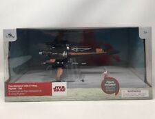 Authentic Disney Store Star Wars The Last Jedi Poe Dameron And XWing Fighter Set
