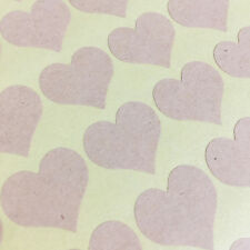 Heart Stickers, Labels, Tag, Packaging, Seal, Envelope, Kraft Brown Circle 140pc