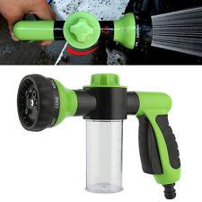 Adjustable 8 in1 Spray Pattern Water Gun&Soap Dispenser Hose Nozzle Car Wash GN