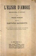 N61 L'elisir d'amore Donizetti RICORDI