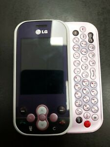 LG KS360 Slide Cell Phone with Keyboard - Pink - Untested