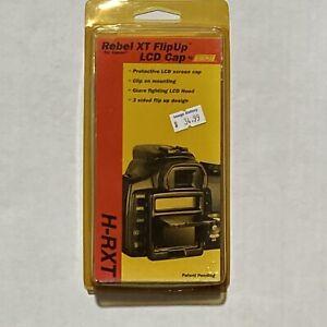 Hoodman Canon Rebel XT FlipUp LCD Cap H-RXT Shade Glare Scree Protector