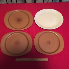 FOUR LARGE OVAL PLATES