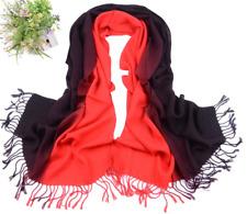RUNMEIFA Schal Farbverlauf Baumwollschal rot - schwarz Baumwolle 68cm x 180cm