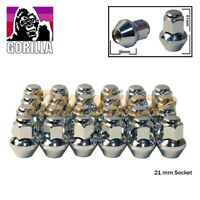 24 GORILLA LARGE SEAT OEM OE STOCK WHEELS LUG NUTS 14X1.5 M14 ACORN RIMS CHROME