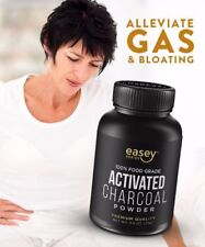 100% Activated Charcoal (2.5 oz Powder) to Alleviate Stomach GAS AND BLOATING