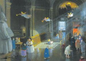 Postkarte: Michael Sowa - Himmel und Hölle