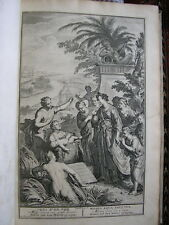 Figures Bible In folio velin 212 grav Picart Sueur Hoete Houbraken 1728  rare