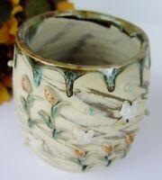 Beautiful STUDIO ART Pottery Drip Glazed Glazing Ceramic Stoneware Vase ~ SIGNED