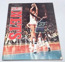 1974 ABA New York Nets Playoffs Official Game Program Dr. J. Julius Erving