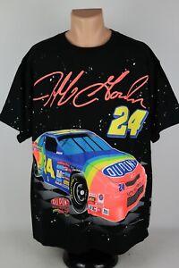 Vintage Jeff Gordon 1995 NASCAR #24 Nutmeg Men's XL All Over Graphic T Shirt USA
