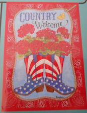 """New listing """"Country Welcome"""" Flip It Garden Flag 12.5"""" x 18"""""""