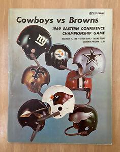 CLEVELAND BROWNS @ DALLAS COWBOYS VINTAGE 1969 NFL EASTERN CONF PLAYOFF PROGRAM