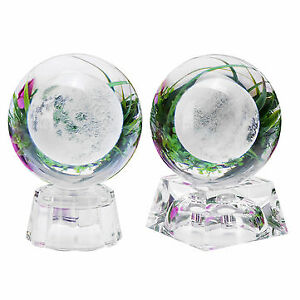 Moon Crystal Ball With Light Effect Base 3D Engraving Colorful Ornaments Crafts