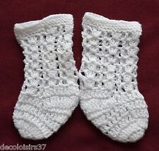 Lasioux LS1118W Soquette ganchillo hecho a mano de algodón para muñeca