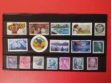 USA.  Lote sellos usados de Estados Unidos.