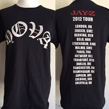 "JAY-Z KANYE WEST (2012) HOVA ""Watch The Throne"" UK Tour Dates T-Shirt Size Small"