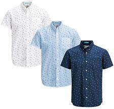 JACK & JONES Cambridge Short Sleeve Shirt New Men Cotton Slim Fit Smart Shirts
