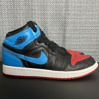 Nike Air Jordan Retro 1 Hi OG UNC to CHI Bred Kids Shoes Size 2Y CU0449-046