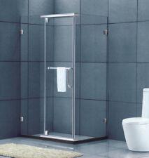 Shower Screen Frameless 850x850x1950mm Swing Sliding Door Safety Toughened