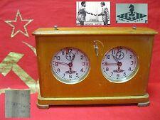 Soviet Russian VINTAGE TOURNAMENT CHESS CLOCK WOODEN OChZ made in USSR 1964