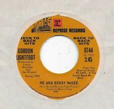 GORDON LIGHTFOOT * 45 * Me And Bobby McGee / If You Could Read My Mind 1971 * RI