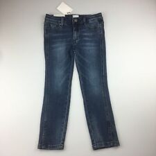 Girls size 7, Witchery, stretch straight leg, cropped jeans, adjustable,