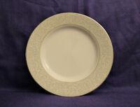 "Mikasa Fine China PARCHMENT L3438 SILVER set of 4 Salad Plates, 8 1/4"""