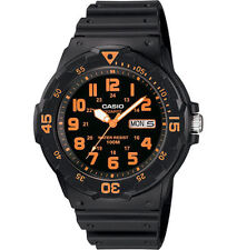 Casio Men's Analog Black Resin Band, 100 Meter, Day/Date, MRW200H-4BV