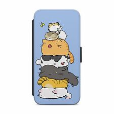 CAT KITTEN CUTE LEATHER WALLET FLIP PHONE CASE COVER FOR IPHONE&SAMSUNG     S133