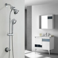 3 IN 1 Shower Head & Handheld Combo System 5-Settings High-adjustable Chrome