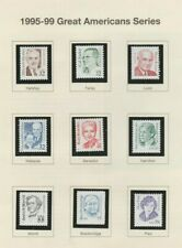 1995-99 Great Americans 2933/1943, nine items COMPLETE, mNH Very Fine